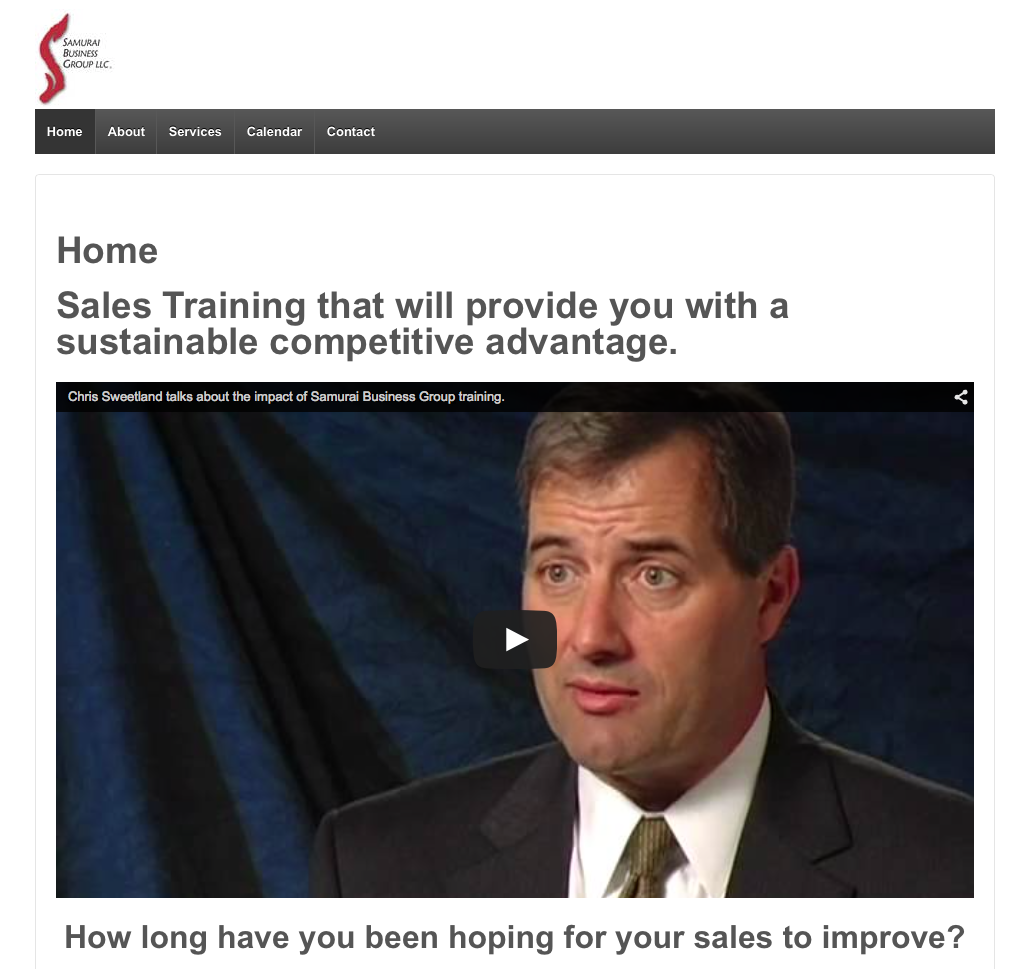 Samurai Business Group sales training